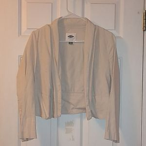 Old Navy Linen Cropped Blazer